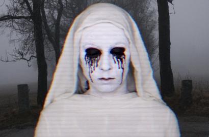 dame blanche maquillage halloween