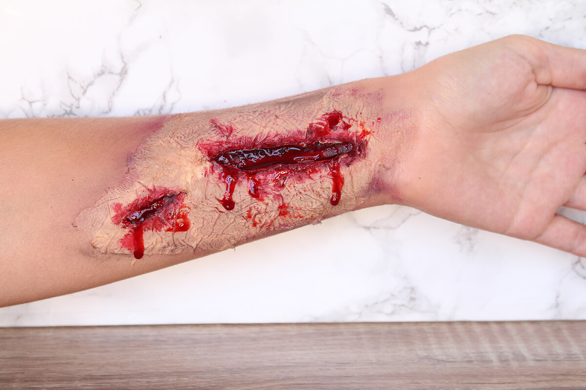 fausse blessure halloween