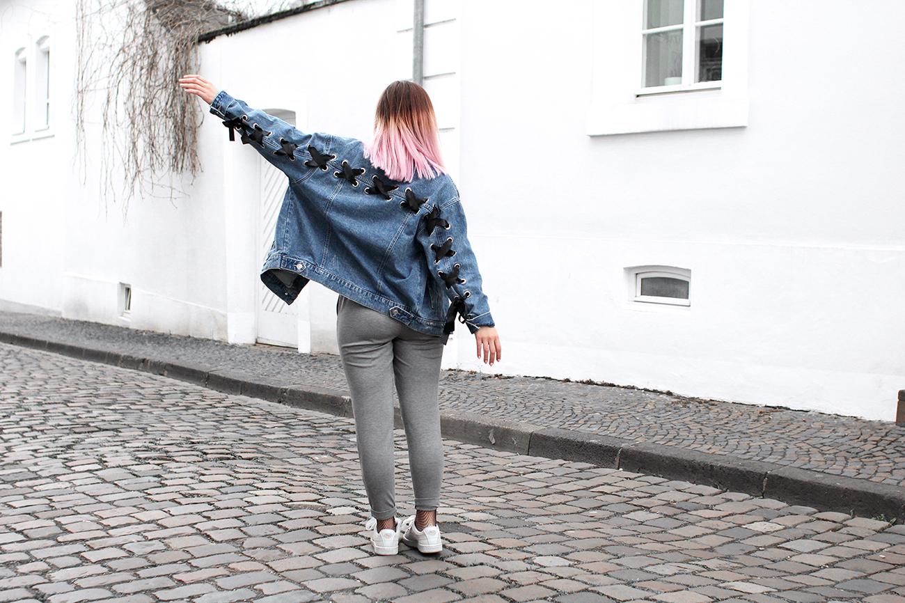 veste en jean et caraco