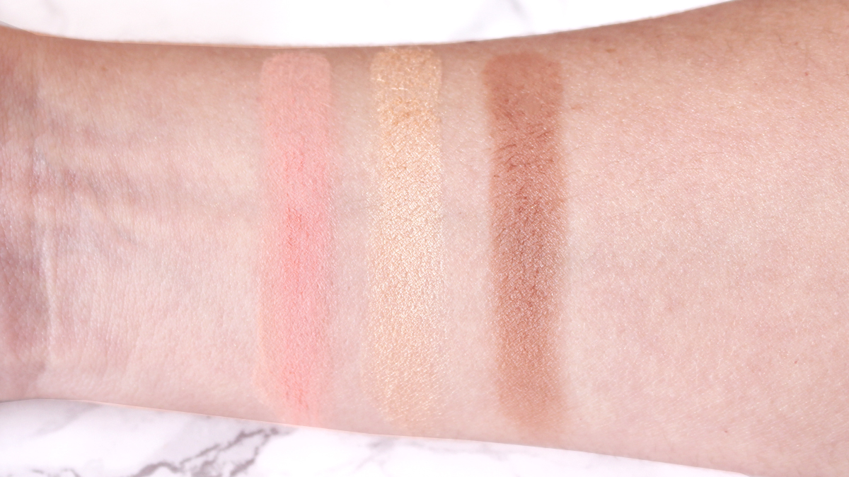 swatches palette blush basic moment zoeva