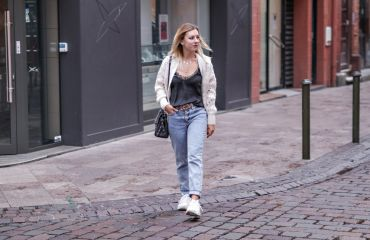 Gilet en laine jean mom