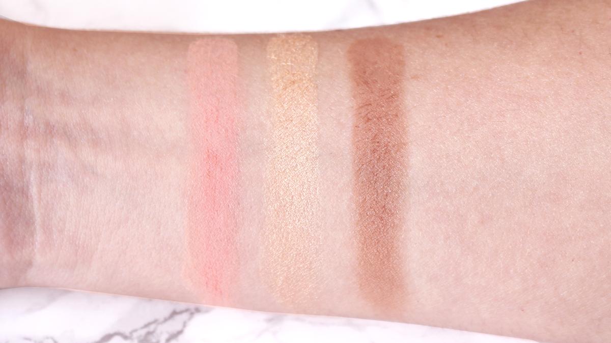 swatches palette blush basic moment zoeva