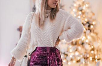 tenue de fêtes jupe sequin